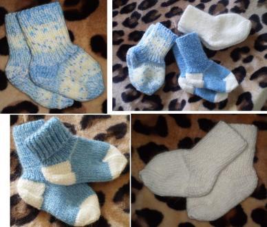 Вязание носков новорожденным 24